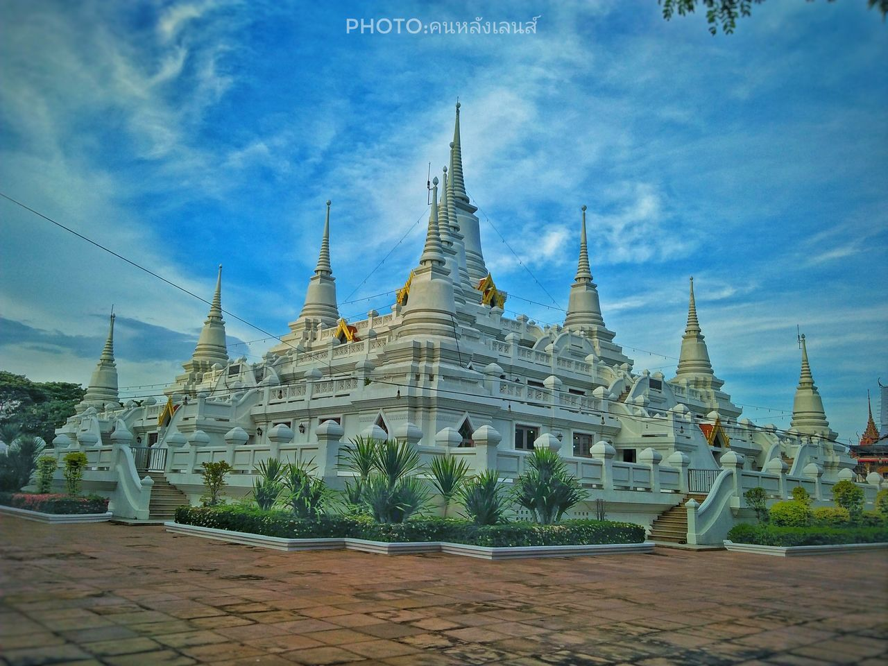religion, place of worship, spirituality, sky, pagoda, architecture, travel destinations, built structure, no people, landscape, day, nature, outdoors, building exterior