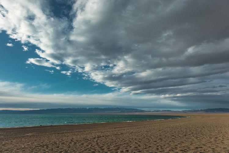 Mongolia Cloud - Sky Sky Land Scenics - Nature Beauty In Nature Sea Beach Sand Tranquility Tranquil Scene Horizon Water Nature Horizon Over Water Non-urban Scene Day No People Idyllic Outdoors