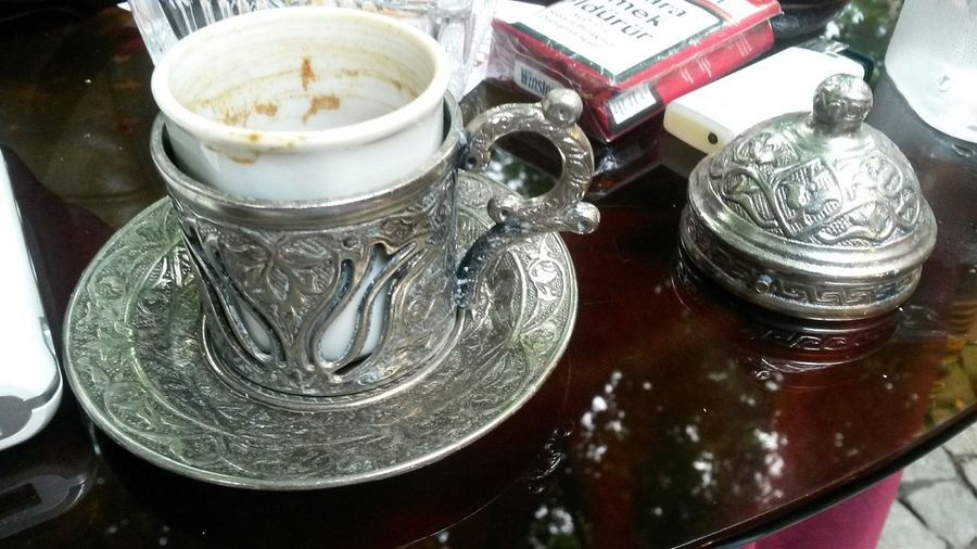 Relaxing Turkish Coffee And With Cigarette Hello World Hi! Enjoying Life Naturel Place Bursa / Turkey
