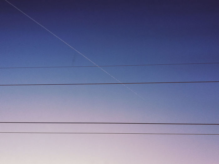 Silence EyeEmNewHere Technology Vapor Trail Electricity  Science And Technology Sky Power Line  Electric Pole Power Cable Electrical Grid High Voltage Sign Wire Cable Telephone Pole Calm Rushing
