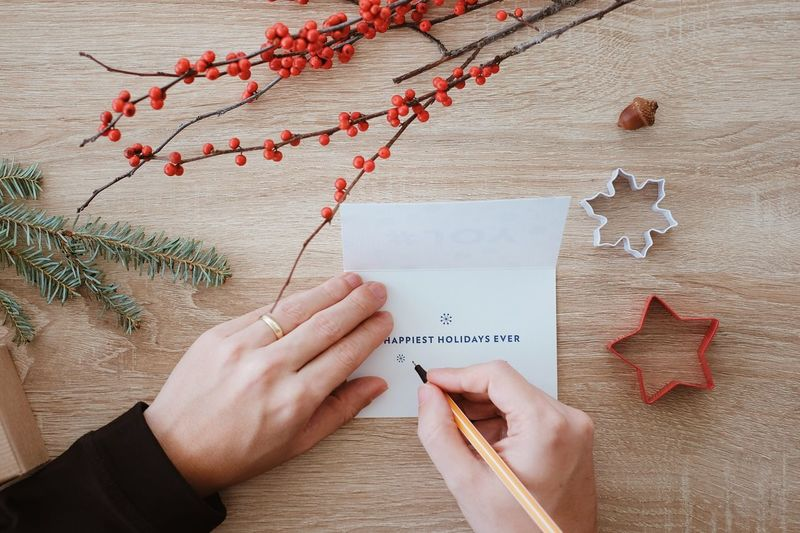Greeting Card  Greeting Still Life EyeEm Gallery Hands At Work Wishes Postcard Xmas Decorations Holiday Memories Christmastime Christmas Time Xmas Holidays Celebrations Eye4photography  EyeEm Best Shots Paper Human Hand Hand Christmas Text Handwriting  Pen Celebration Decoration Directly Above Writing Holiday Holiday Moments