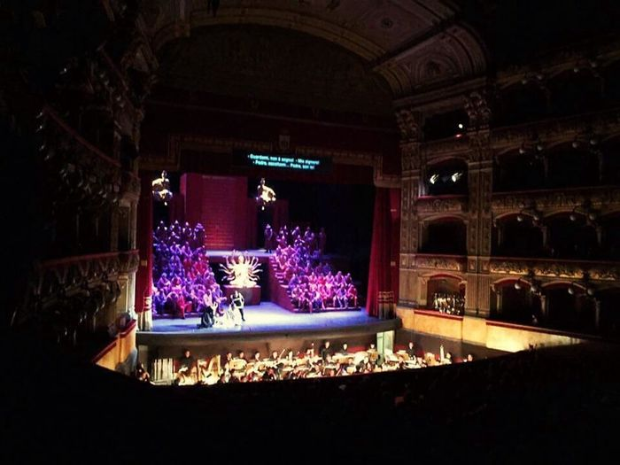 Stage Event Light Illuminated Architecture Built Structure Theatre Performance Operahouse Opera Theatre Opera And Ballet Theatre Opera Lirica Performing Arts Event Purple Orchestra Audience Audience Point Of View Turandot Music Music Hall Music House