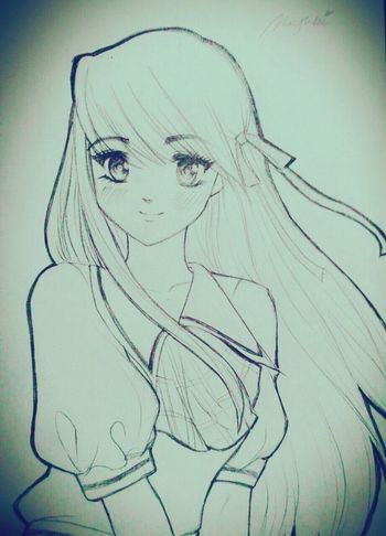 I Missed drawing so I drew this X'D Kawaii? Drawing