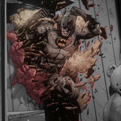 Ever since reading Earth One, I've loved this image of the dark knight bursting through the wall. Edited the pix with ColourSplash. Coloured part would make a smart tattoo...but where to get it :/ Batman Darkknight Batmanfamily DC Dcuniverse Tattoo Ink Batmantattoo BatmanInk EarthOne Geoffjohns GaryFrank Coloursplash BatFan BatGeek Geek GeekandProud Brucewayne