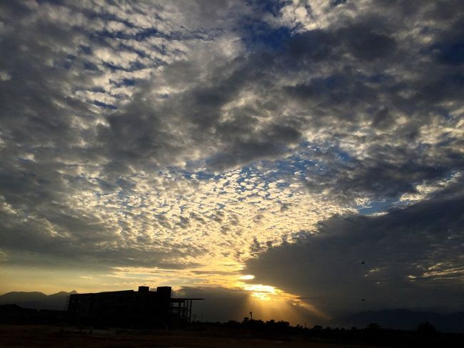 light of god Architecture Built Structure Sky Cloud - Sky Building Exterior Scenics Photography Photo Nature Cloudy Outdoors Beauty In Nature Cloud Dark Outline Tranquility Tranquil Scene Sun No People Cloudscape Majestic