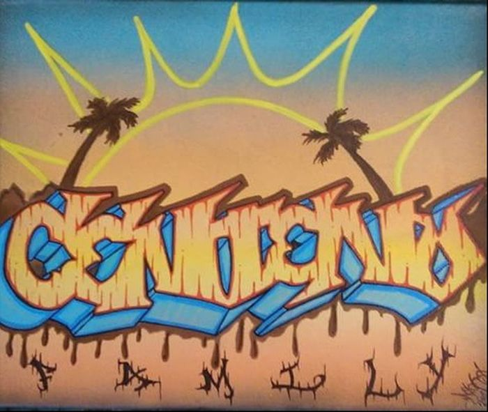 Centeno family. Sunset Graffiti Writers 562 Playa Larga Mecks1 Art, Drawing, Creativity Graffitiporn Lettering Graffiti Art Type LBC Hi! Long Beach California Artsy Typography Notes From The Underground Art Graffiti Canvas Canvas Art