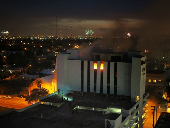 Some kids set the Hollywood bread building on Fire on the 4th Of July. Had a different kind of Fireworks display.