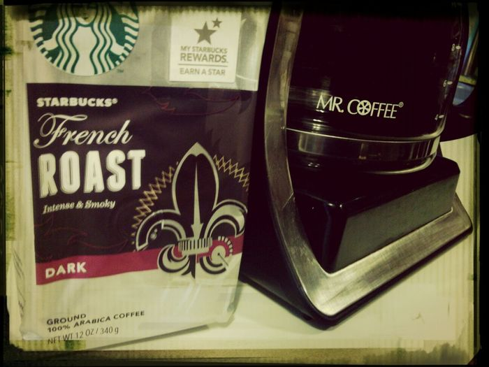 French Roast - brewed SO strong that the stir-stick/spoon dissolves while stirring. MY kind of Coffee! Caffeine, baby!
