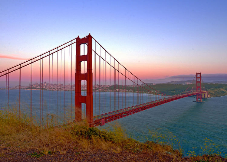 Architecture Bay Bay Of Water Bridge Bridge - Man Made Structure Built Structure Clear Sky Connection Engineering Nature Outdoors Sea Sky Suspension Bridge Tourism Transportation Travel Travel Destinations Water