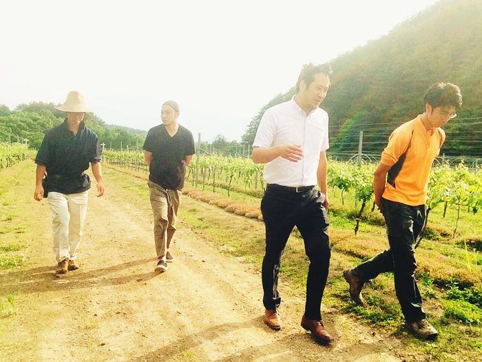 作り手4人。 #shochu Sake Wine Food