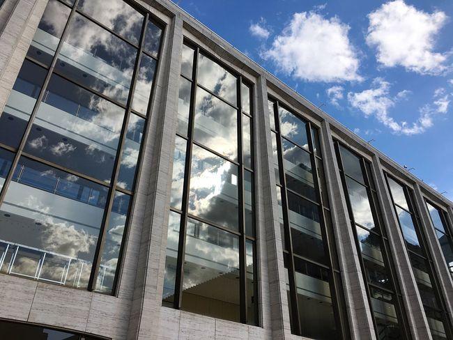 Sky and Geffen Davidgeffenhall Lincoln Center Myworld Blue