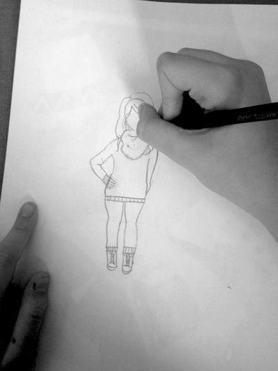 Croqui Roupas Estilo Moda Desenho Estilista Lapiz Papel Minhaduda