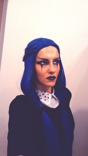 Leagueoflagends Wig Diana <3 Blue Stage Makeup Makeup Diana Makeup ♥ LeagueofLegends League Of Legends