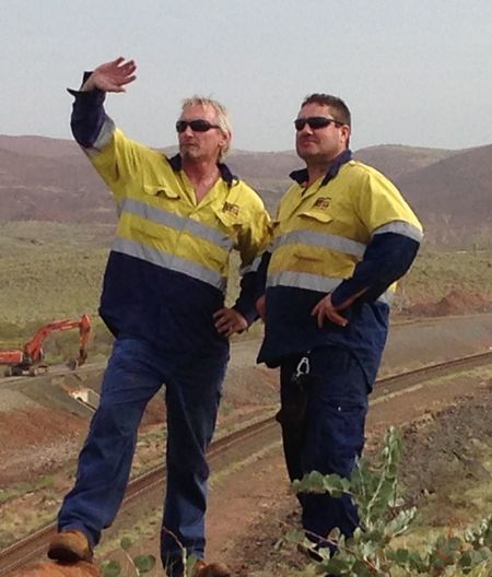 That's Me Hanging Out With My Workmate Overlooking Railway We Built