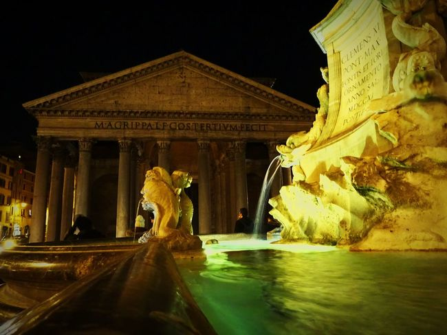 Water Fountain Night Architecture Sculpture Panteon Agrippawerft Agrippa Pantheon Pantheon Rome Pantheon Rome Rome Italy❤️ Italy Erasmus Erasmus Photo Diary Erasmuslife Rome Italy Monument Long Exposure Statue Motion Travel Destinations Architectural Column Outdoors Illuminated Visual Feast The Street Photographer - 2017 EyeEm Awards Neighborhood Map The Architect - 2017 EyeEm Awards EyeEmNewHere