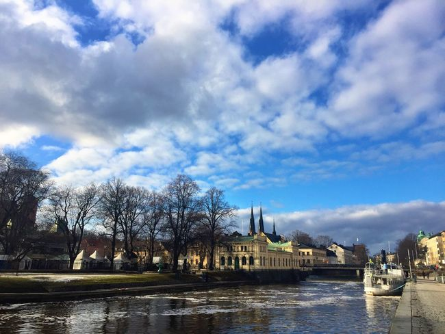 Uppsala Uppsala Domkyrka River Riverside Sweden Clouds Sun Sky And Clouds Clouds And Sky Cloudy Nature City Spring Springtime Traveling Travel Photography Yellow Daydreaming Photooftheday McIntosh Photography IPhoneography Hello World Good Morning Artist
