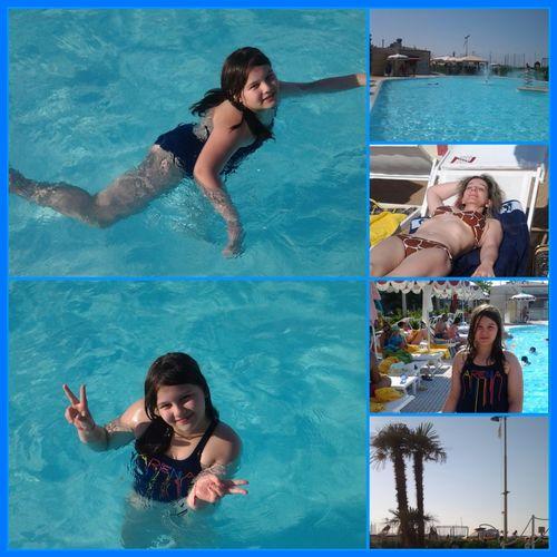 Me and my daughter at the swimming pool this morning! Good Morning! Enjoying Life Hi! Relaxing