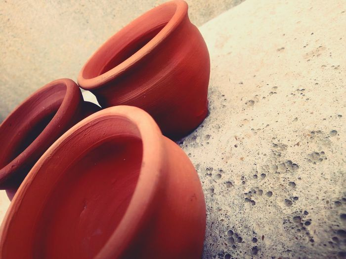 ~ Simplicity is beauty Pottery Simple Photo Clay Work Claypot Sand Red Pair Close-up