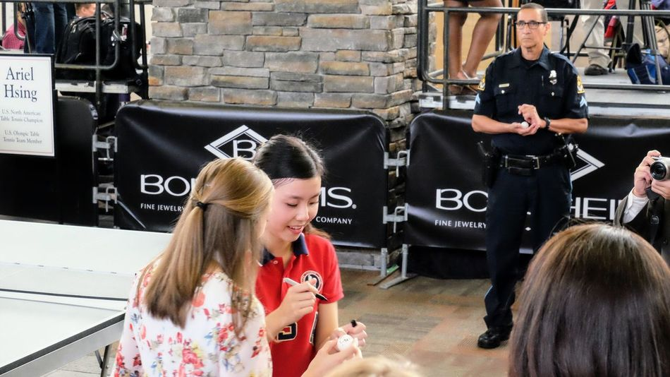 Borsheims Exclusive Berkshire Hathaway Shareholder Shopping Day Brunch & Cocktail Party @ Borsheims Fine Jewelry - Regency Court Omaha, Nebraska May 7, 2017 Ariel Hsing Autograph Berkshire Hathaway Berkshire Hathaway 2017 Shareholders Meeting Borsheims Fine Jewelry Brk2017 Business Finance And Industry Celebrities Champion Documentary Photography Event Http://www.topspinmovie.com/ News Omaha, Nebraska Philanthropist Ping Pong Table Tennis Teamusa