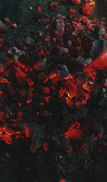 Fire Burning Coals Red Abstract No People Full Frame Night Outdoors Astronomy EyeEmNewHere