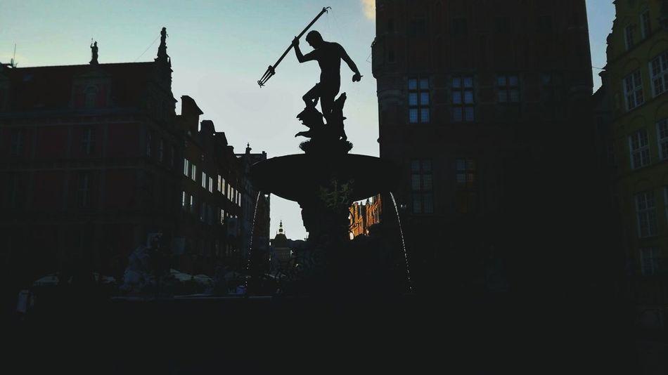Neptune Fountain City Gdansk, Poland