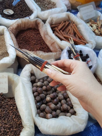 Quill Tools Local Stalls Flea Market Thailand Herb And Spice Market Stall