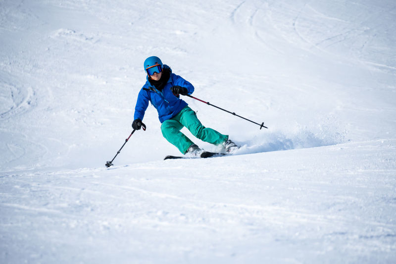 Man skiing in snow