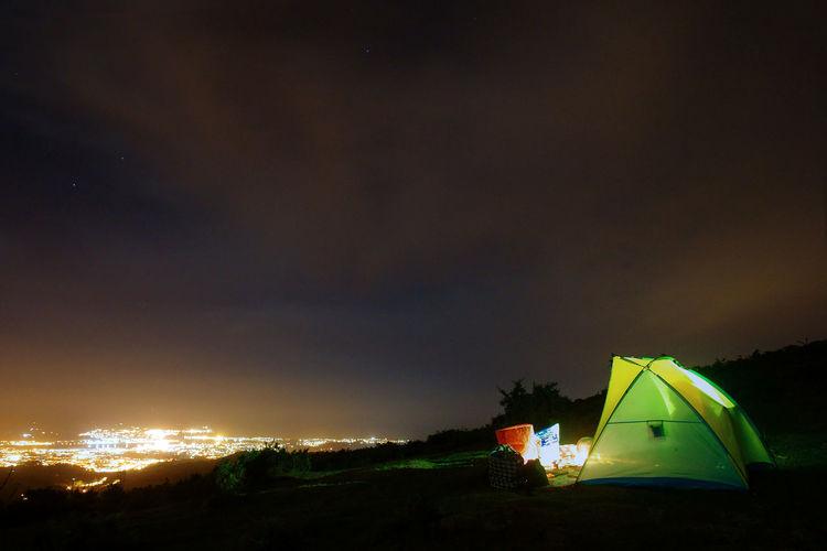 Camping Adventure Iluminated Long Exposure Night Nightphotography Cityscape Landscape Clouds Aiako Harriak Erlaitz Sky Nature Euskadigrafias Euskalherria Basque Country Mountain Tent Illuminated Camping Adventure Sky Landscape