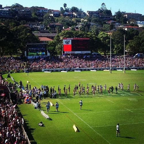Perfect Sunday afternoon. Sports, beer and sunshine GoManly Killingit Manlyseaeagles Manly