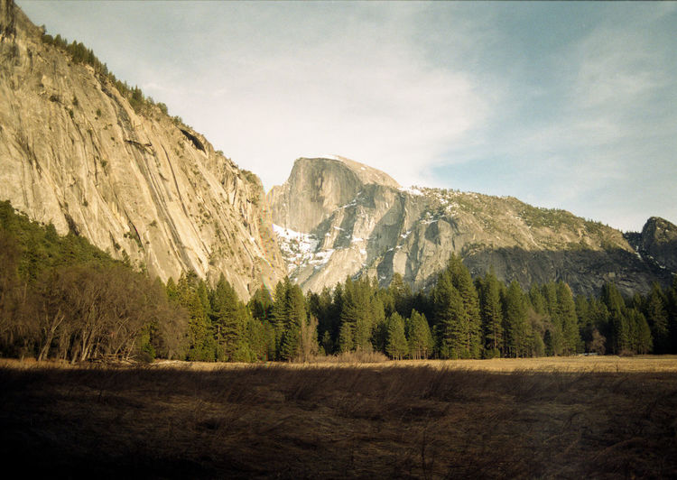 View on Half Dome, Yosemite National Park California Half Dome Mountain View National Park USA Yosemite Yosemite National Park America Film Photography Filmisnotdead Golden Hour Muted Colors Naturelovers