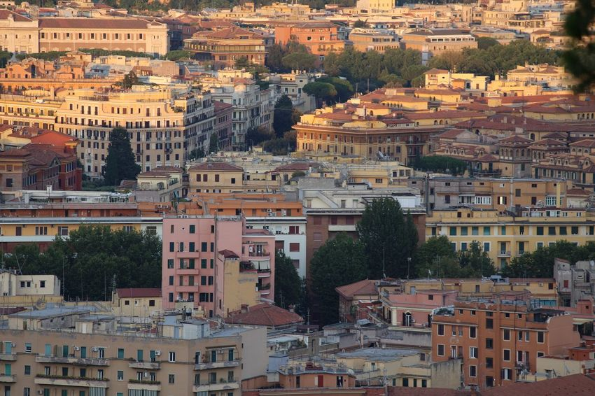 Houses in Rome. Pastel field. Color Palette Symmetry Roof Detail Rooftop Streetphotography Rome Italy Sunset Summer Shades Houses And Windows Birds Eye View