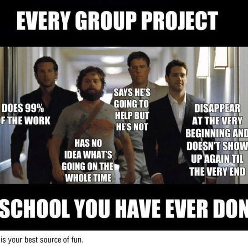 In every school group project there is ^^^^^^ SoDamnTru