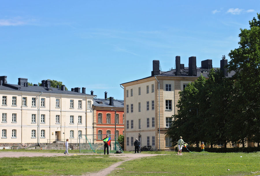 Architecture Building Exterior Built Structure City Life Day Façade Group Of People Kite Lifestyles Outdoors Suomenlinna Travel Destinations