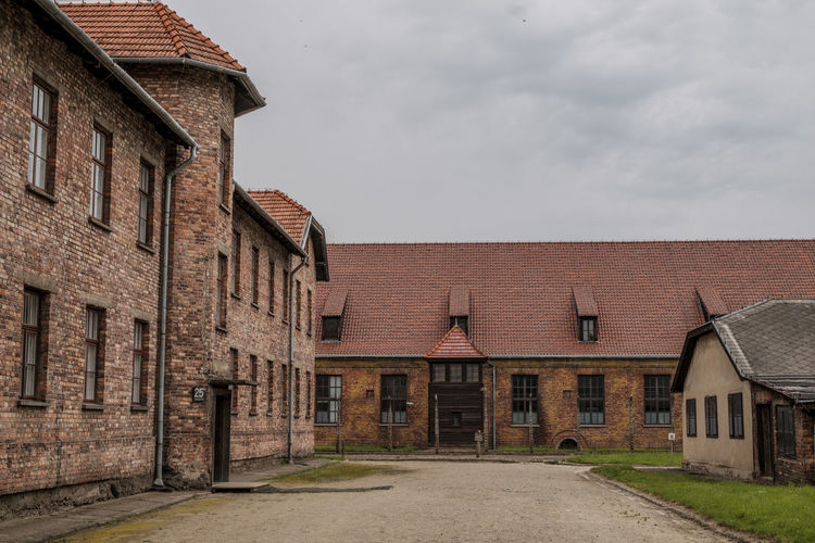 Auschwitz-Birkenau Nazi Concentration Camp Auschwitz  Holocaust Remembrance Architecture Auschwitz Birkenau Building Exterior Built Structure Day Holocaust Holocaust Memorial No People Outdoors Sky