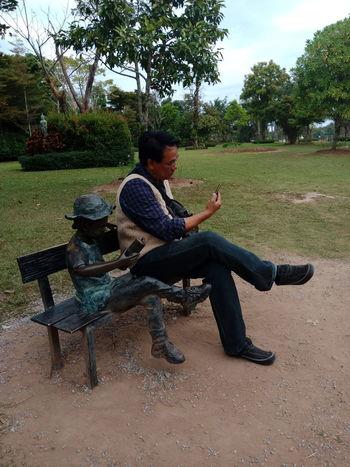 Imitate The Stone Duplicated Imitate Imitate Picasso Imitateholywater Imitates Outdoors People Sitting เลียนแบบเค้า