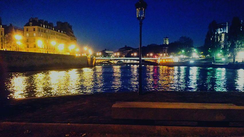 Paris Docks Night Laseine Chill