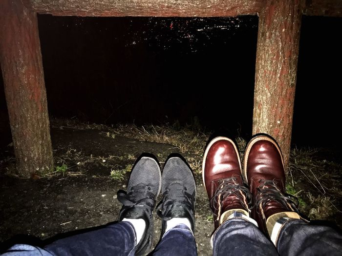 couple Redwing Asics Night View Nightphotography Night Nightscape Date Couple Human Leg Standing One Person Human Body Part Day People first eyeem photo