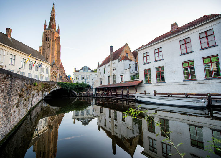 Architecture Building Building Exterior Built Structure Canal City Clear Sky Day Nature No People Outdoors Reflection Religion Residential District Sky Tourism Transportation Travel Destinations Water Waterfront