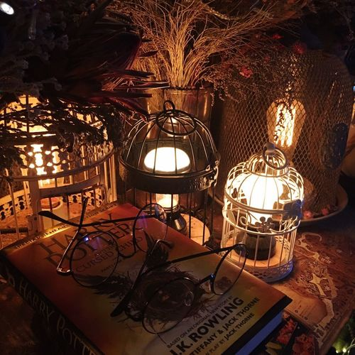 Lighting Equipment Indoors  Illuminated Electric Lamp No People Table Lantern Night Electricity  Close-up HerryPotter Herry Poter Glasses ...