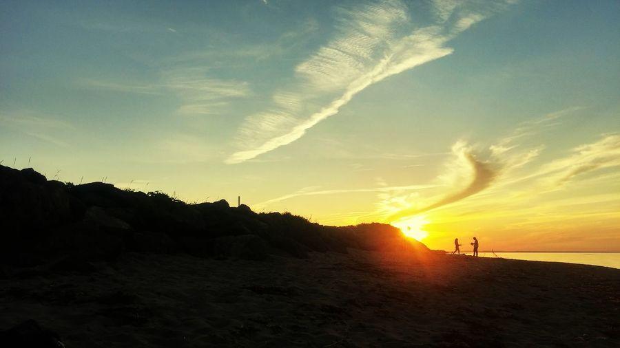 Beach Sunset #sun #clouds #skylovers #sky #nature #beautifulinnature #naturalbeauty #photography #landscape Ocean Peaceful Evening