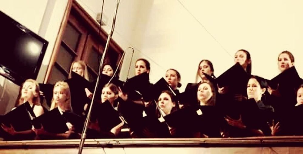 Choir  Voice Singing Amazing Evening Black Suit Girls Pretty Girl Gala Evening Classical Music Song Singing Our Hearts Out