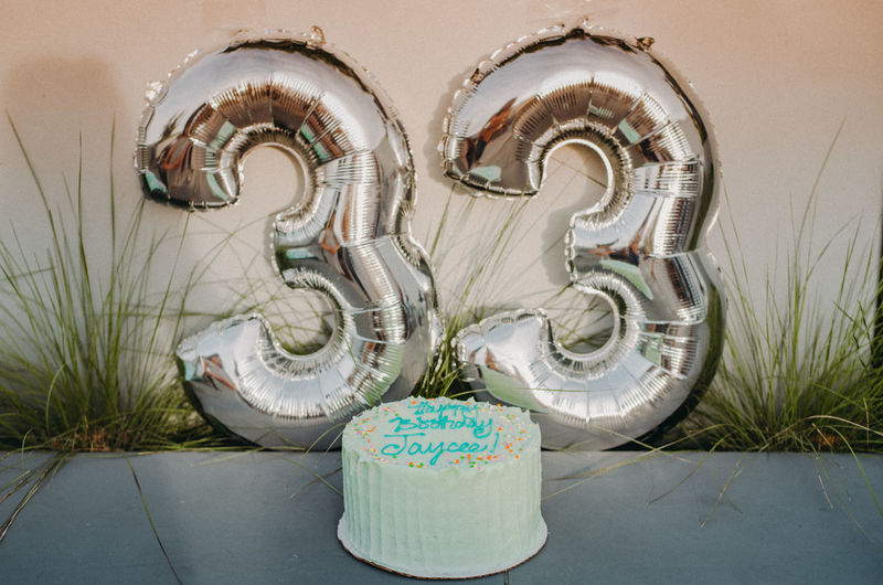 Birthday Cake Architecture Art And Craft Baked Bakery Birthday Built Structure Close-up Container Craft Creativity Day Focus On Foreground Metal Nature No People No People, Number Numbers Outdoors Plant Representation Still Life Text Wall - Building Feature