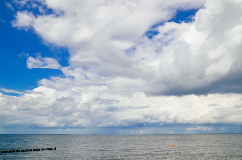 Idyllic Shot Of Baltic Sea Against Cloudy Sky