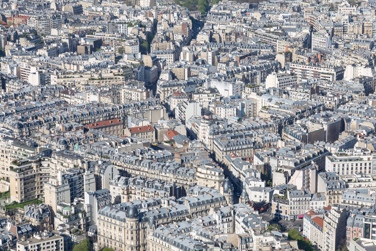 Paris, France, March 30 2017: City panorama. View from Eiffel tower City France Panorama Paris Paris, France  Roof Aerial View Architectural Architecture Building Building Exterior Built Structure Capital City City Life Cityscape Crowded Day High Angle View Outdoors Residential District Town TOWNSCAPE Travel Destinations Urban