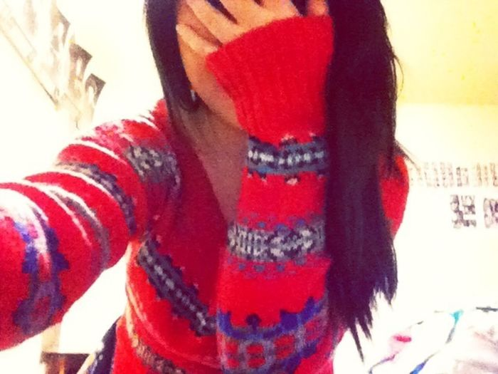 Baby got me a sweater for Christmas.