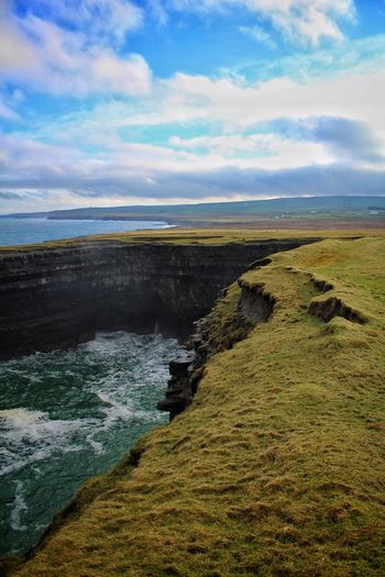 Ireland Irland EyeEm Nature Lover Naturelovers Ireland🍀 Wildatlanticway Nature Photography Nature_perfection Waves, Ocean, Nature Cliffs Mayo Ireland Downpatrick Head Showcase: January
