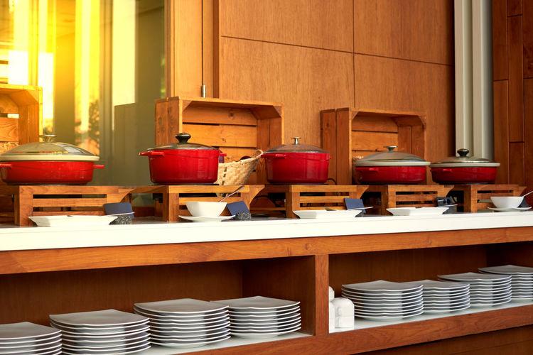 Buffet in restaurant