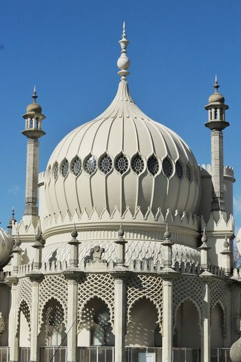 Royal Pavilion Dome Dome Blue Architecture Sky City No People Outdoors Day Royal Pavilion Canon Nifty Fifty Brighton Building Exterior Travel Destinations Architecture