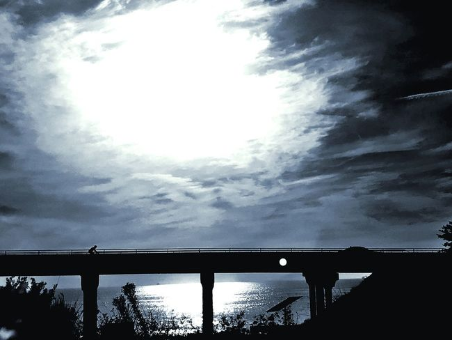 Under or over Road Sky And Clouds Black And White Beachphotography Ventura Beach Bridge - Man Made Structure Connection Low Angle View Cloud - Sky Built Structure Architecture Sky