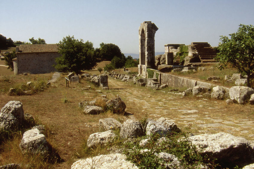 Archeological Complex Architecture Carsulae Sky Sunny Day Tuscany